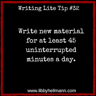Writing Lite Tip 32 - Libby Hellmann